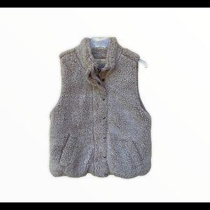 Thread + Supply Sherpa Plush Blush Pink Vest